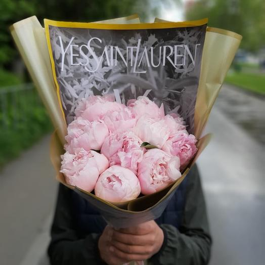 Пионы YSL: букеты цветов на заказ Flowwow