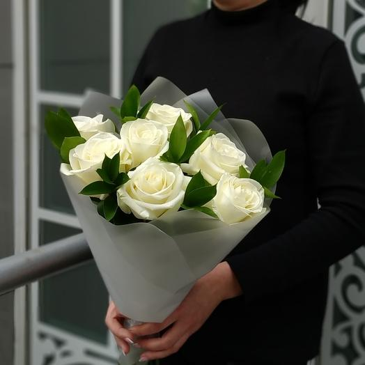Аваланш🌿  розы белые