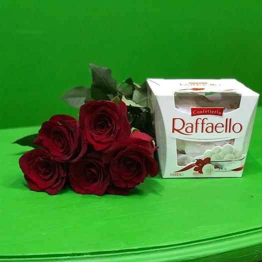 5 Роз и раффаэлло