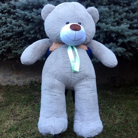 Плюшевий ведмедик 200 см сірий
