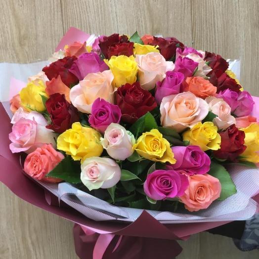 Букетик моно розы