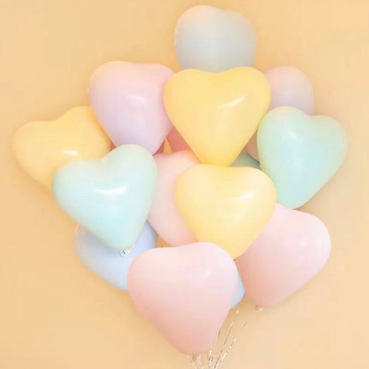 Воздушный шар макарунс сердце