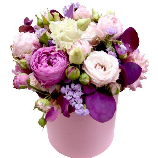 """Коробка с цветами """" Любимой дочке"""""""