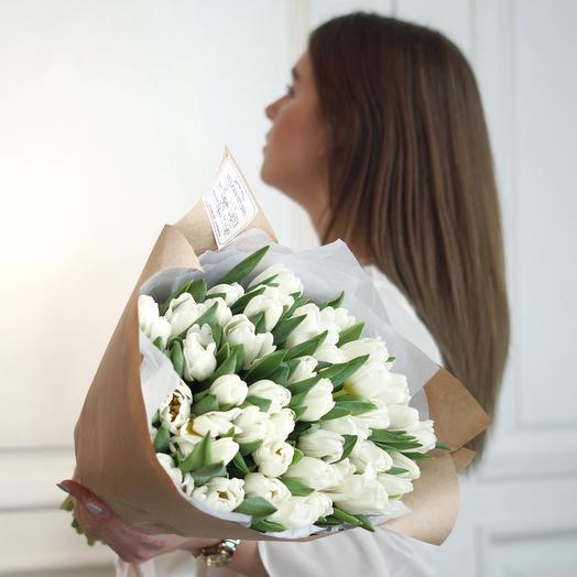 Белые Тюльпаны Royal Virgin (51 шт)