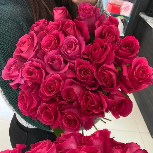 25 Эквадорских роз 60см