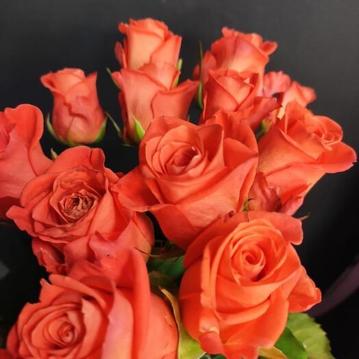 21 роза вау обвязанная лентой