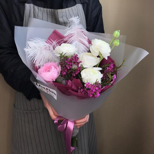 Букет из цветов «Ранункулюс» мини