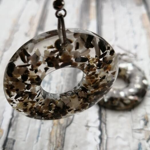 Серьги - кольца с ракушками