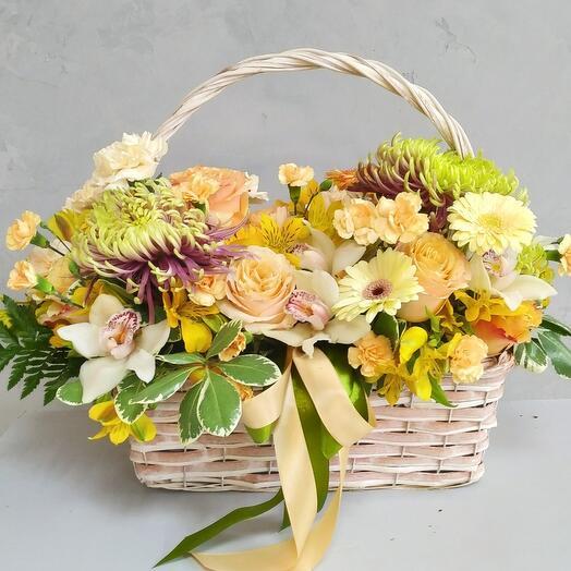 Корзина XXL с цветами