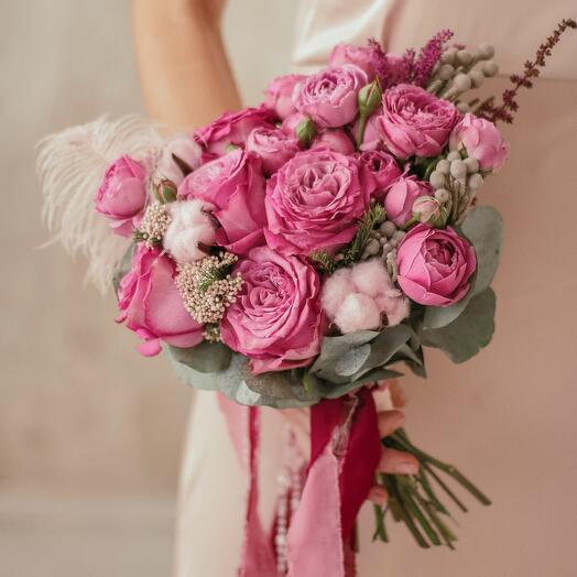Букет невесты «Розовые кружева»