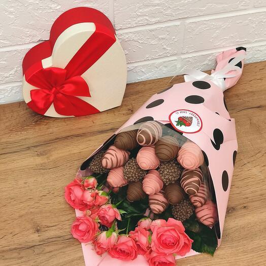Bush rose with polka dots