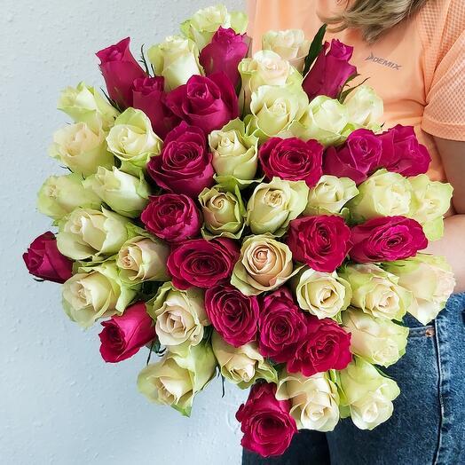 51 Роза 2 цвета