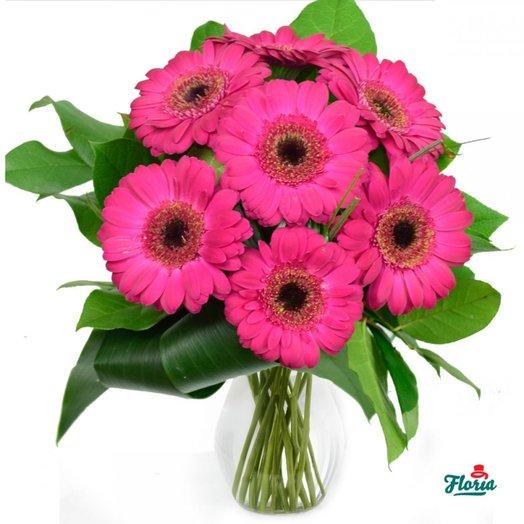 7 гербер с оформлением: букеты цветов на заказ Flowwow