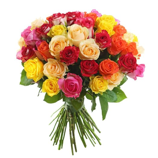 Букет Радуга 51 роза: букеты цветов на заказ Flowwow