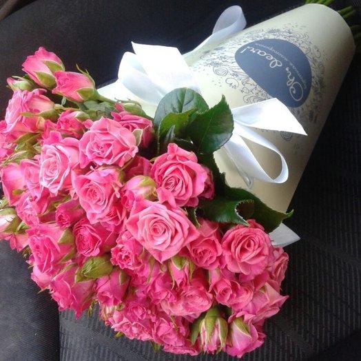 Розовая роза в конверте