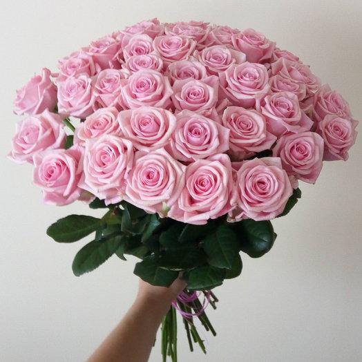 Букет из 41 розовой розы