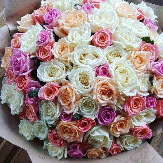 Букет из 75 ррз: букеты цветов на заказ Flowwow