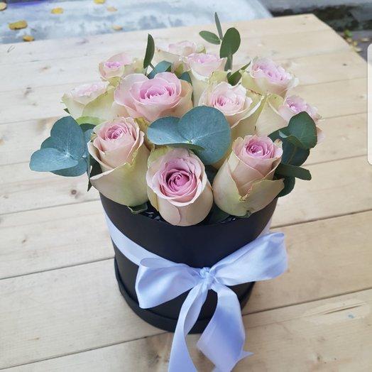 Коробочка 11 роз: букеты цветов на заказ Flowwow