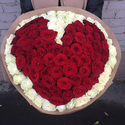 Heart 101: букеты цветов на заказ Flowwow