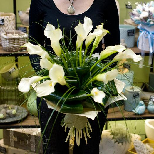 """Букет из калл """"Crystal Blush"""": букеты цветов на заказ Flowwow"""