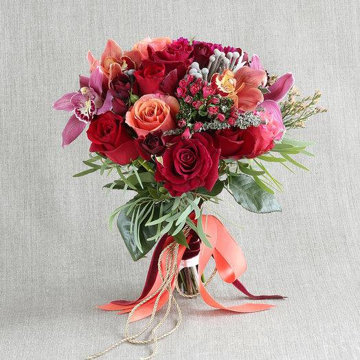 """Компактный букет """"Мистическая ода"""": букеты цветов на заказ Flowwow"""