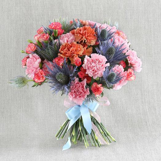 Моно-букет из гвоздик  Странный дневник: букеты цветов на заказ Flowwow