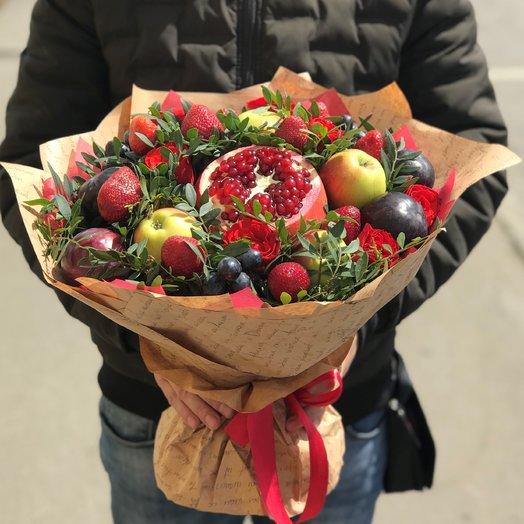 Букеты из фруктов .Гранатовый букет. N110: букеты цветов на заказ Flowwow