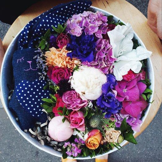 """Коробка """"Сон в летнюю ночь!"""": букеты цветов на заказ Flowwow"""