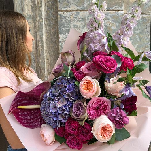 Букет Маджента: букеты цветов на заказ Flowwow