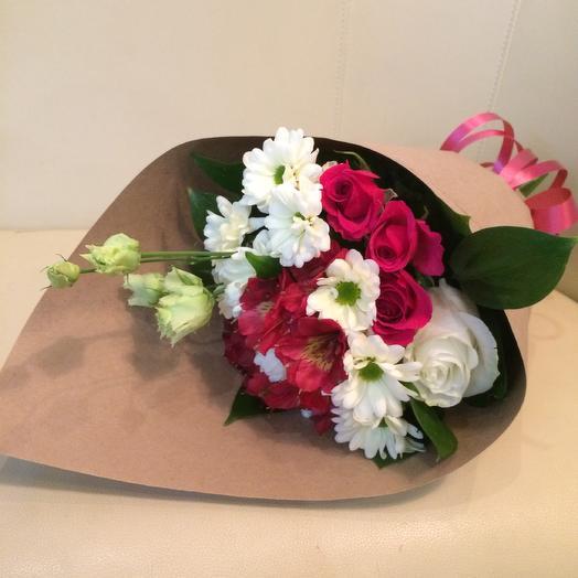 Букетик с хризантемой: букеты цветов на заказ Flowwow