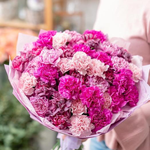 Букет из разноцветных гвоздик: букеты цветов на заказ Flowwow