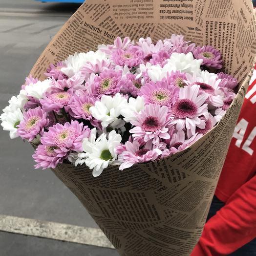 Хризантема микс в букете: букеты цветов на заказ Flowwow