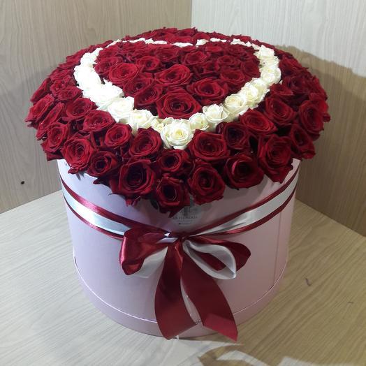 Сердца: букеты цветов на заказ Flowwow