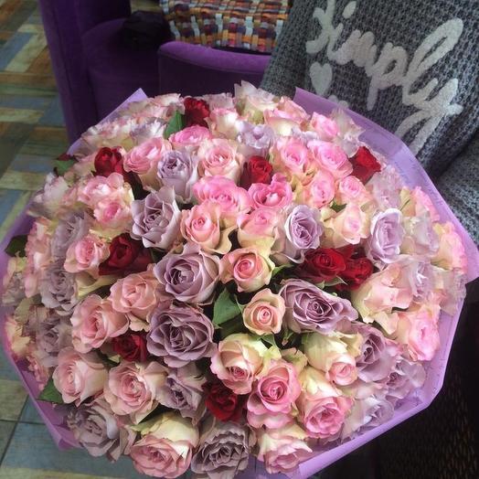 Только розы: букеты цветов на заказ Flowwow