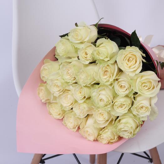 25 роз 70 см Premium Craft: букеты цветов на заказ Flowwow