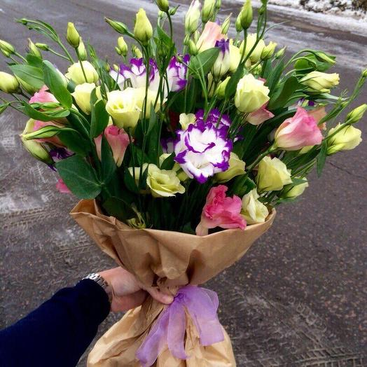 Букет лизиантус микс: букеты цветов на заказ Flowwow