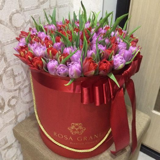 До 149 пионовидных голландских тюльпанов: букеты цветов на заказ Flowwow