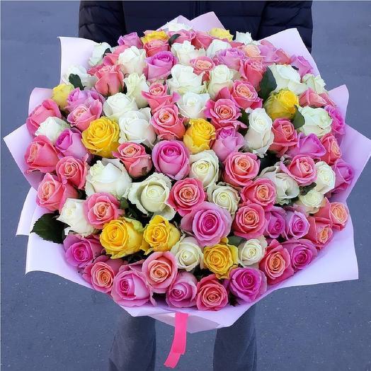 MIX из 101 розы: букеты цветов на заказ Flowwow