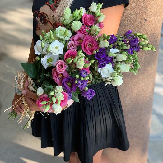 Букет из 15 разноцветных эустом: букеты цветов на заказ Flowwow