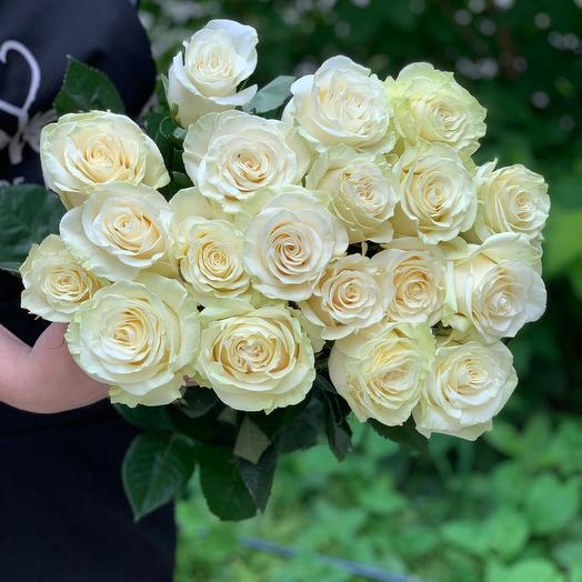 Букет из 19 белых роз 50 см: букеты цветов на заказ Flowwow