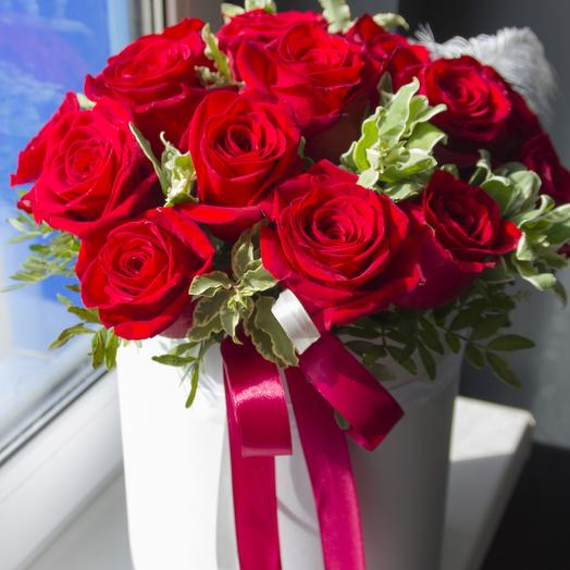 Моно коробка: букеты цветов на заказ Flowwow