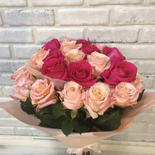 Букет «Винтаж» средний: букеты цветов на заказ Flowwow