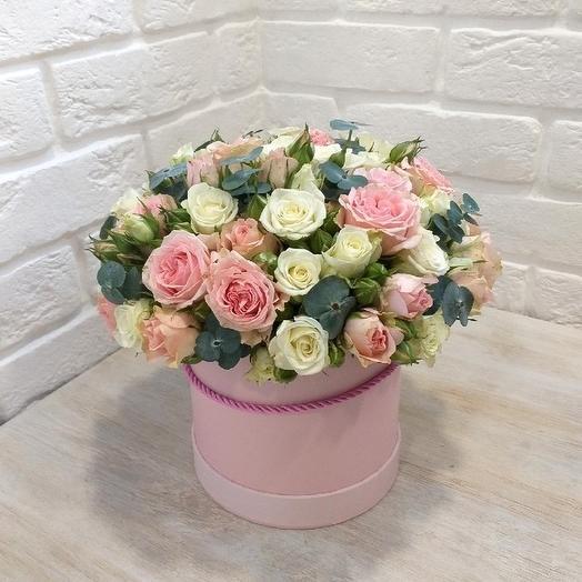 "Коробка с цветами ""краски нежности"""