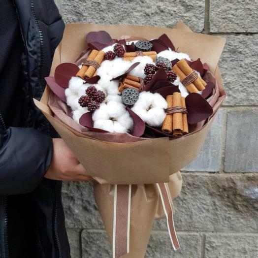 Букет из хлопка: букеты цветов на заказ Flowwow