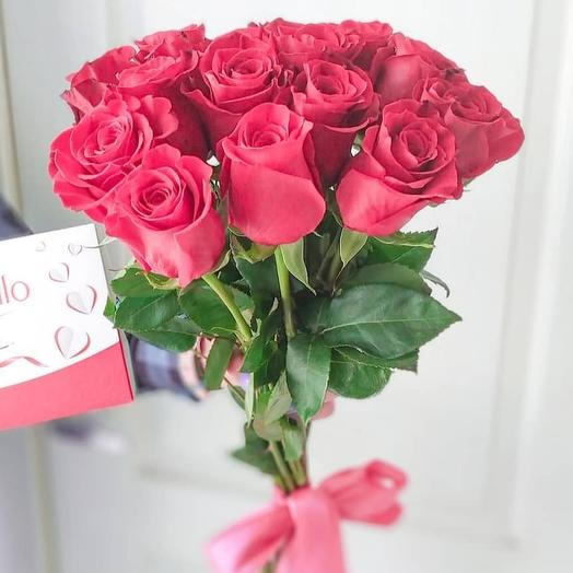 Розы красные: букеты цветов на заказ Flowwow