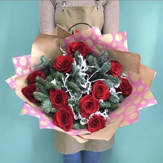 Новогодний комплимент: букеты цветов на заказ Flowwow