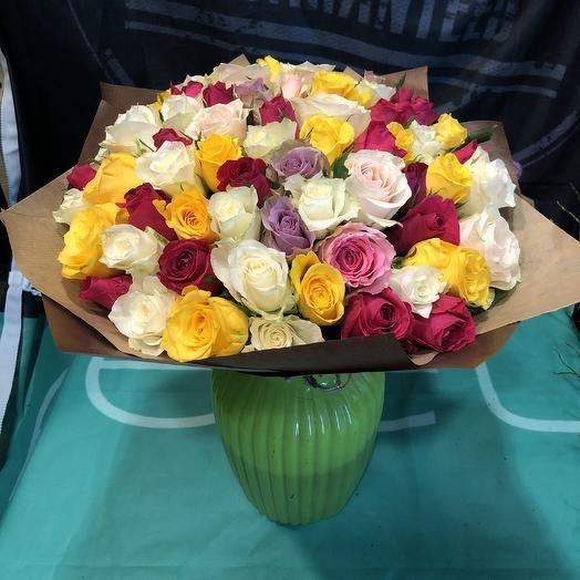 Микс из Роз 4 сезона: букеты цветов на заказ Flowwow
