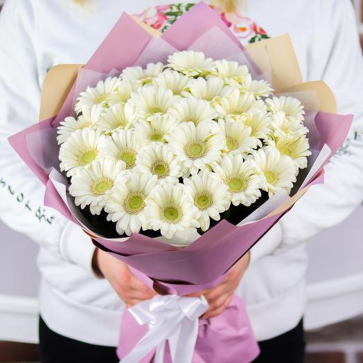 Букет из 29 белых гермини. N764: букеты цветов на заказ Flowwow