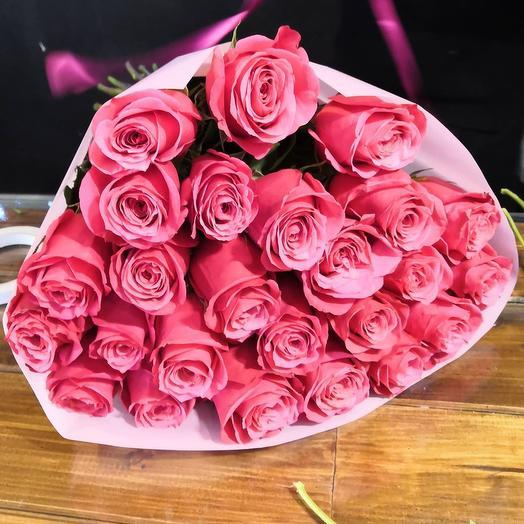25 Эквадорских роз МИКС