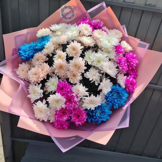 15 хризантем